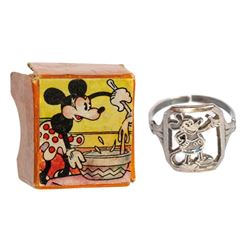 Mickey Mouse Sterling Silver Ring.