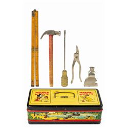 Mickey Mouse Tool Chest and Tool Set.