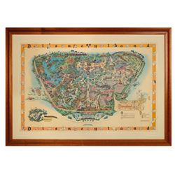 Disneyland 1958-B Souvenir Map.