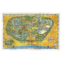 Disneyland 1968 Souvenir Map.
