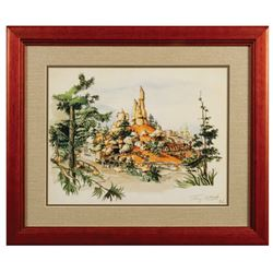 Signed Tony Baxter Big Thunder Mountain Lithograph.