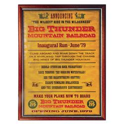 Big Thunder Mountain Attraction Announcement Poster.