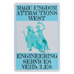 Engineering Services Haunted Mansion Vehicles Sign.