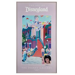John Hench Signed  New Orleans Square  Print.