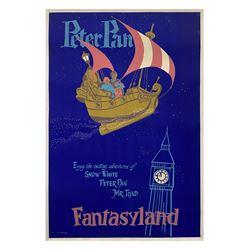 Peter Pan's Flight Attraction Poster.