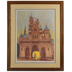 """Charles Boyer Signed Walt Disney """"Footsteps"""" Print."""