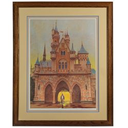 Charles Boyer Signed Walt Disney  Footsteps  Print.