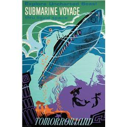 Original Submarine Voyage Attraction Poster.