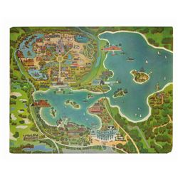 Walt Disney World Paul Hartley Aerial Map.
