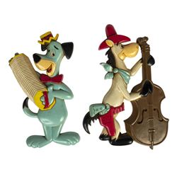 Huckleberry Hound & Quick Draw McGraw Wall Plaques.