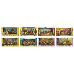 Collection of (8) TV-Tinykins and Disneykins Playsets.
