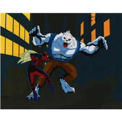 Spider-Man Unlimited Man-Wolf Production Cel.