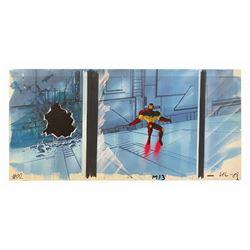 Iron Man Original Pan Cel and Background.