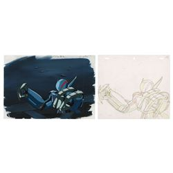 Bubblegum Crash Priss Mech Suit Cel & Background.