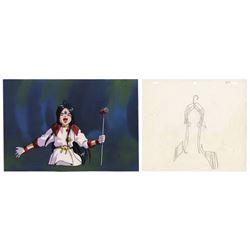 Original Ah! My Goddess Skuld Cel & Background.