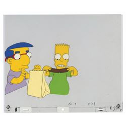 Bart & Milhouse Cel from Butterfinger Commercial.