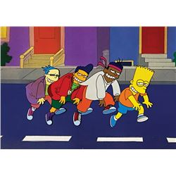 The Simpsons Do the Bartman Production Cel.