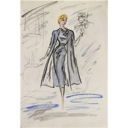 The Lucy-Desi Comedy Hour Edith Head Costume Sketch.