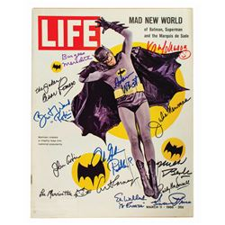 Batman Cast Signed Life Magazine.