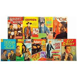 Set of (9) Vintage Television Show Comic Books.