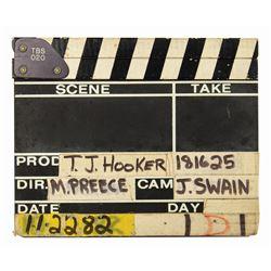 T.J. Hooker Clapperboard.