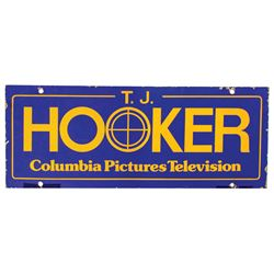 T.J. Hooker Production Sign.