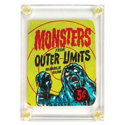 Monsters from Outer Limits Bubble Gum Card Wrapper.
