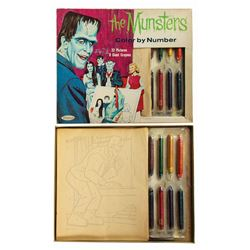 Butch Patrick Signed The Munsters Color By Number Set.