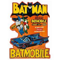 Batman Batmobile Aurora Model Kit Store Display Sign.