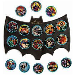 "Set of (18) Batman ""Batcoins"" and Displays."