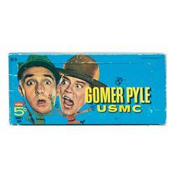 Gomer Pyle U.S.M.C. Trading Cards Wax Pack Box.
