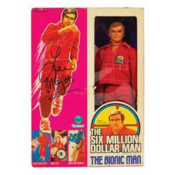 Lee Majors Signed Six Million Dollar Man Action Figure.