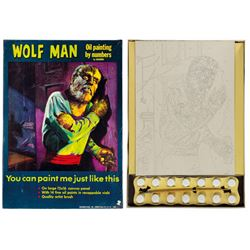 Wolf Man Oil Painting by Numbers Boxed Kit.