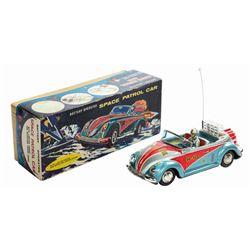 Space Patrol Car Tin Toy.