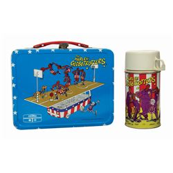The Harlem Globetrotters Lunch Box and Thermos.