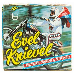 Evel Knievel 1974 Topps Trading Cards Cello Pack Box.