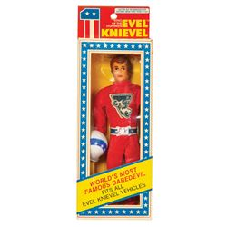 Evel Knievel Flexible Action Figure with Helmet.