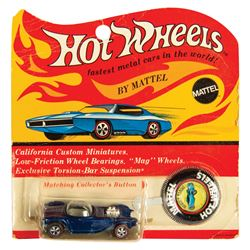 Hot Wheels Blue Beatnik Bandit on Card.