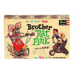 Signed Brother Rat Fink Big Daddy Roth Model Kit.
