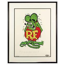 Ed  Big Daddy  Roth Signed Rat Fink Art Print.