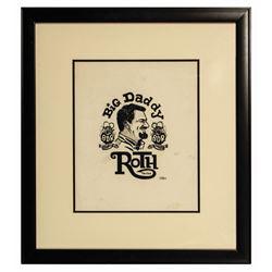 Ed  Big Daddy  Roth Fan Club Sticker Drawing.