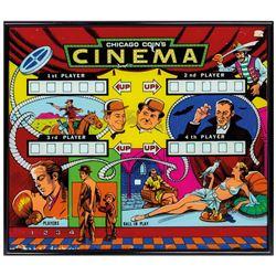 Chicago Coin's Cinema Pinball Machine Backglass.