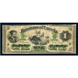 DOMINION OF CANADA 1870 $1.00 DC-2a-i Very Good