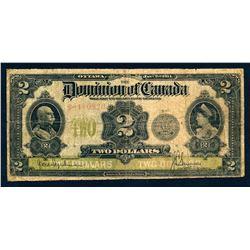 DOMINION OF CANADA 1914 $2.00 DC-22e VG8