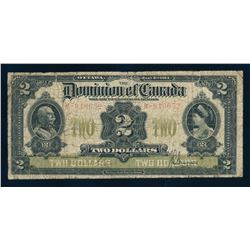 DOMINION OF CANADA 1914 $2.00 Position C 183 x 83 mm. DC-22c. Graded: VG