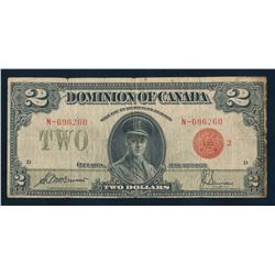 DOMINION OF CANADA 1923 $2.00 McCarvour-Saunders. DC-26g. Graded: VG+