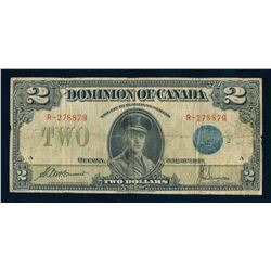 DOMINION OF CANADA 1923 $2.00 McCarvour-Saunders. DC-26h. Graded: VG