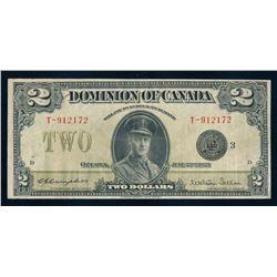 DOMINION OF CANADA 1923 $2.00 Campbell-Sellar. DC-26j. Graded: Very Fine