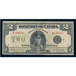 DOMINION OF CANADA 1923 $2.00 Campbell-Clark. DC-26l. Graded: Very Fine