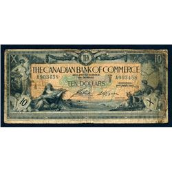 CANADIAN BANK OF COMMERCE 1917 $10.00 16-04-12b Very Good